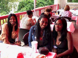 Three IntelyPro nurses at the welcome event in Cincinnati