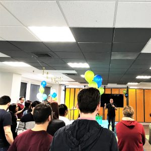 David Coppins speaking during the 1 million hours celebration