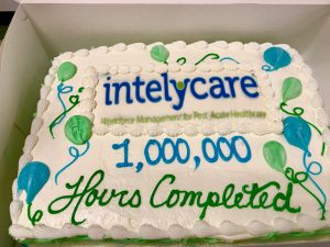 cake to celebrate the millionth hour filled