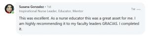A testimonial about IntelyCare's COVID-19 Nurse Training Course