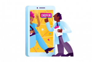 Check in a patient icon
