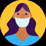 Covid-19 nurse icon