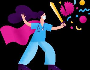 A hero nurse icon