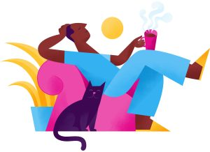 Per diem nurse relaxing icon
