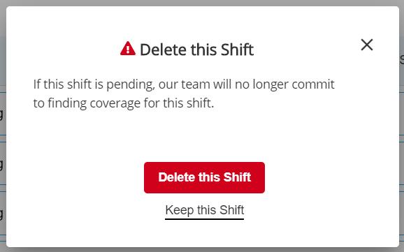 Delete this Shift