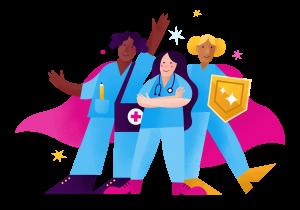 IntelyPro nurses standing together