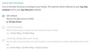 Census Settings