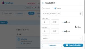 Create Partial Shift