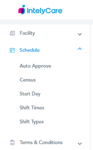 Schedule Settings