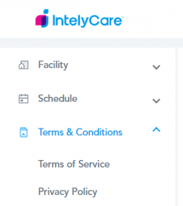 Terms & Conditions Settings